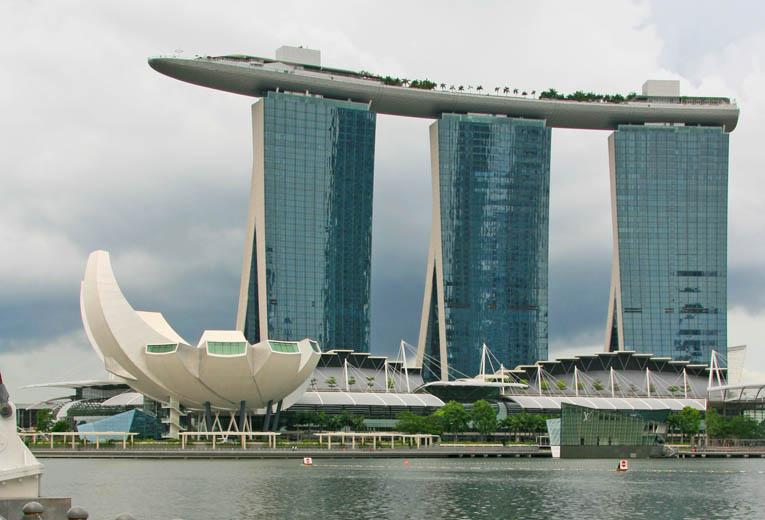 Das Marina Bay Sands wurde 2010 eröffnet